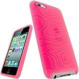 igadgitz Silikon Hülle Etui Case Schutzhülle Tasche in Pink Rosa für Apple iPod Touch 2G 2.Gen Generation & 3G 3.Gen Generation 8gb, 16gb, 32gb & 64gb + Display Schutzfolie