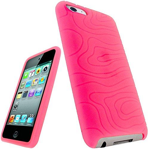 igadgitz Silikon Hülle Etui Case Schutzhülle Tasche in Pink Rosa für Apple iPod Touch 2G 2.Gen Generation & 3G 3.Gen Generation 8gb, 16gb, 32gb & 64gb + Display - Mp3-player 64gb Ipod Touch Apple