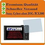 2x Entspiegelnde Displayschutzfolie Bildschirmschutzfolie von 4ProTec für Sony Cyber-shot DSC-WX300 - Nahezu blendfreie Antireflexfolie