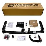 Abnehmbare Westfalia Anhängerkupplung für A6 Limousine (BJ 04/2004-03/2011) und A6 Avant (BJ 03/2005-09/2011) im Set mit 13-poligem fahrzeugspezifischen Westfalia Elektrosatz