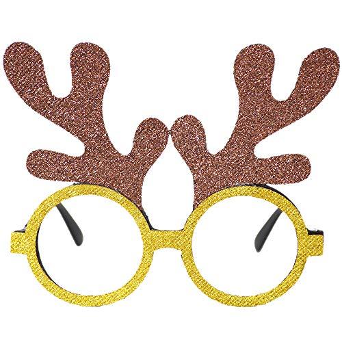 Igemy Weihnachtsbrille, Schneemann Rahmen Ornamente Frohes Neues Jahr Kinder Bevorzugt Weihnachten Geschenk Party Decor (H)
