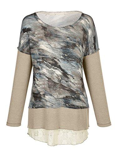 Damen Shirt mit Spitzeneinsatz by AMY VERMONT Melange