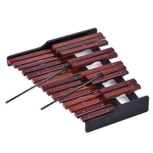 Pannow - Xilofono in legno a 25 note, strumento musicale educativo, regalo con 2 martelli
