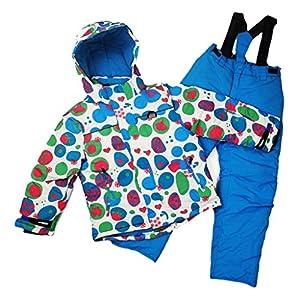 Toygogo Skihose + Skijacke Junge Mädchen Schneeanzug Softshellhose Schneeoverall Skianzug