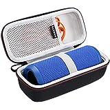 LTGEM EVA Étui rigide Sac de rangement de voyage pour JBL Flip 3 & JBL Flip 4 Enceinte portable Bluetooth.Avec poche en maille pour câble.