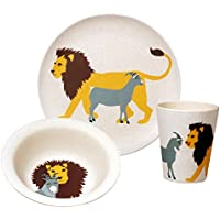 zuperzozial Children's Organic Hungry Lion Set Plate