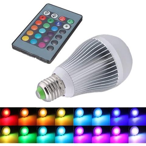 SODIAL(R) 12W E27 16 que cambia de color RGB Bombilla LED lampara de luz 85-265V + IR Remote