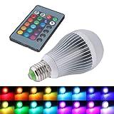 SODIAL (R) 12W E27 16 Farbwechsel RGB LED Licht Lampe 85-265V + IR-Fernbedienung