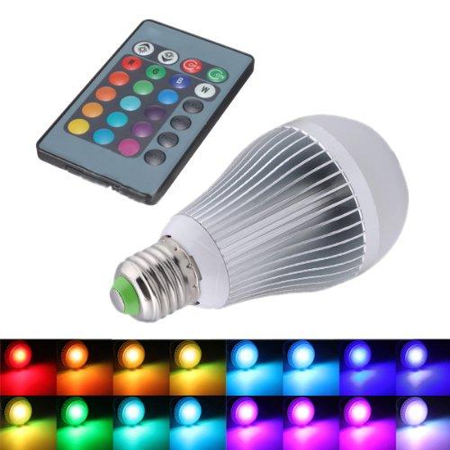 SODIAL(R)Changement de 12W E27 16 Couleur Ampoule RGB LED Lampe 85-265V + Telecommande IR