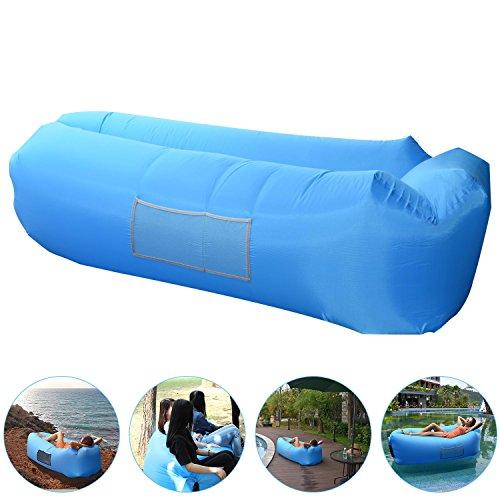 Aufblasbares Sofa, AngLink Wasserdichtes Air Lounger mit 2 Lufteinlass Laybag Outdoor-Sofa Luftsofa mit Tragebeutel für Camping-Stuhl, Park, Strand, Hinterhof - 2017er Upgrade Kissenentwurf