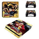 Playstation 4 Slim + 2 Controller Aufkleber Schutzfolien Set - One Piece (4) /PS4 S