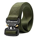ZORO Men's Tactical Belt Nylon Military Style Webbing Belt with Metal Buckle GN-51