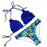 Best Unique Bikinis - Women Sexy Unique Flower Bikini Set Two Pieces Review
