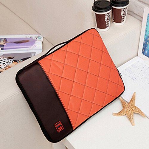 Preisvergleich Produktbild spritech (TM) Computer Travel mit Aufbewahrung Tasche Cover mit Reißverschluss und tragbar Gürtel,  orange,  30, 5 cm