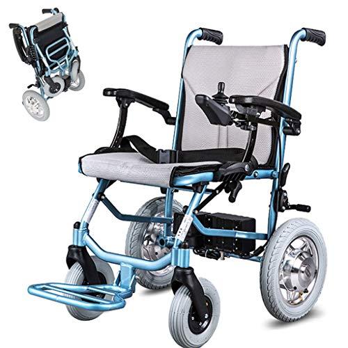 DONGBALA Klappbarer Elektrorollstuhl, Elektrischer Rollstuhl Leichtgewichtiger Fahren Sie Mit Elektrischer Energie Oder Manuellen Rollstuhl Dual-Control-System 300 W * 2 Motor (Li-Ionen-Akku)