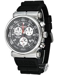 Formex 4 Speed AS1500 - Reloj cronógrafo de caballero de cuarzo con correa de piel negra (cronómetro) - sumergible a 100 metros