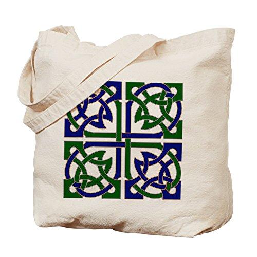 CafePress–Keltischer Knoten kariert–Leinwand Natur Tasche, Reinigungstuch Einkaufstasche (Knoten Leinwand)