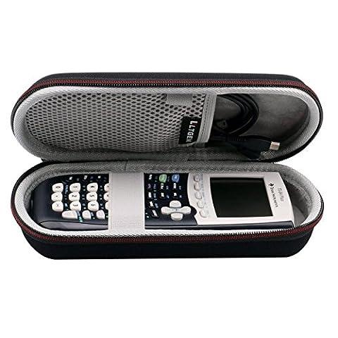 LTGEM Étui Rigide Voyage Sac de Transport de Stockage for Texas Instruments TI-84, 83 / Plus / CE Graphics Calculator,Comprend Mesh Pocket- Noir
