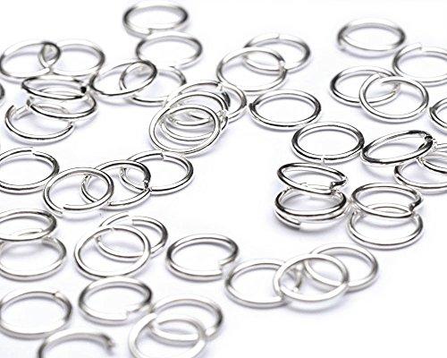 Beads Unlimited Lot de 500 anneaux ouverts en métal Plaqué argent 7 mm