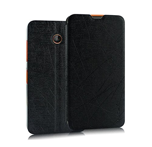Pudini® Yusi Rain Series Leather Flip Cover Stand Case for Nokia Lumia 638 - Black  available at amazon for Rs.198