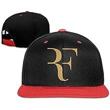 Hittings Roger Federer Logo Unisex Hip Hop Baseball Cap&Hat Red