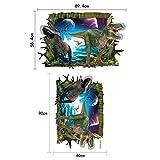 JUNMAONO Dinosaur Wandaufkleber/Abnehmbare Wandbild Aufkleber/Wandgemälde/Wand Poster/Wandbild Aufkleber/Wandbilder/Wandtattoo/Pinupbild/Beschriftung/Pad einfügen/Tapete/Tapezieren/Tapeten/Wand Zeitung/Wandmalerei Haftnotiz/Fühlen Sie sich frei zu kleben/Instant Aufkleber/3D-Stereo-Wandaufkleber