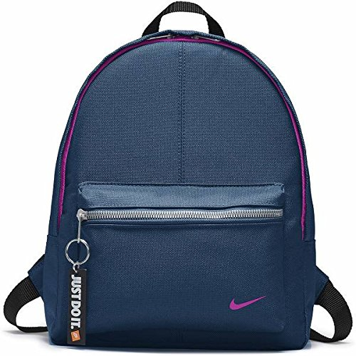Nike Kids' Classic Backpack, Color BLUE FORCE/BLACK/HYPER MAGENTA, Talla MISC