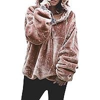 OdeJoy Damen Lose Lange Ärmel Mit Kapuze Plüsch Sweatshirt Flauschige Sweatshirt Warm Outwear Kapuzenpullover... preisvergleich bei billige-tabletten.eu