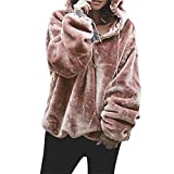 Mosstars Damen mit Kapuze Sweatshirt Mantel warme Wolle Reißverschluss Taschen Baumwolle Mantel Outwear Jumper Outwear kurzarmshirts Wintermantel Trenchcoat Leichte Strickjacke Lange Ärmel Jacken Größe Mantel Trench Coat
