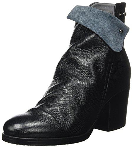 LiliMill Damen OXA Schlupfstiefel, Schwarz (Nero), 38 EU (Schuhe Damen Italienische)