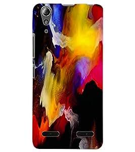 ColourCraft Abstract Art Design Back Case Cover for LENOVO A6000
