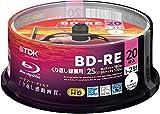 20 TDK Bluray einlagige blau BD-RE 25 GB wiederbeschreibbar Ray Scheiben bedruckbar Original Spindel