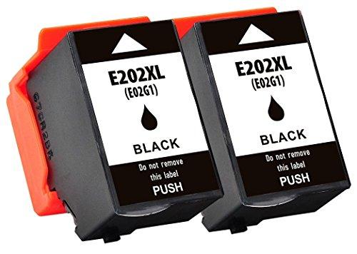2 Compatibili 202 202XL C13T02G14010 Cartucce d'inchiostro per Epson Expression Premium XP-6000 XP-6005 - Nero, Alta Capacità (550 pagine)