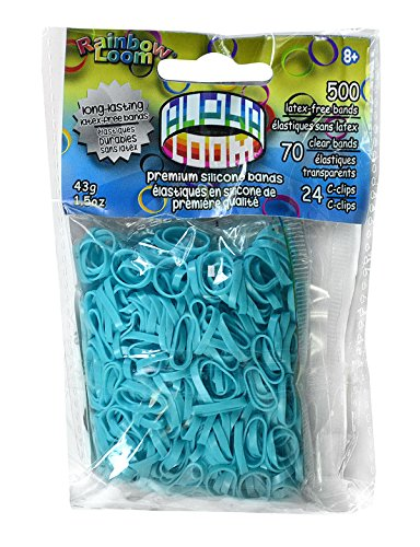 Rainbow Looms 494 B0233 Turquoise Alpha Bands by Rainbow Looms