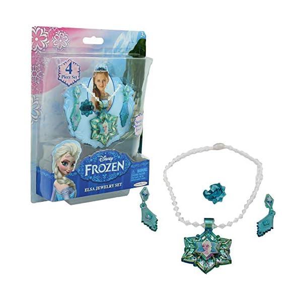 confrontare il prezzo taglia 7 Regno Unito Disney- Frozen Gioielli Bambina Collana Orecchini Anello per Bambine  Costume Principessa (Elsa)