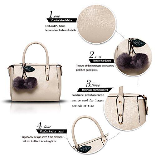 Sunas Il nuovo raccoglitore superiore del sacchetto di spalla del sacchetto del messaggero del sacchetto di spalla della borsa della borsa delle donne di modo Bianco sporco