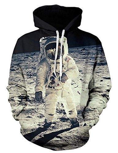 KamiraCoco Herren Pullover Slim Fit Kapuzenpullover 3D Druck Hoodie Weihnachten Langram Sweatshirt Kapuzenjacke (Der Astronauten, L / (Kostüme Paare Neue 2017)
