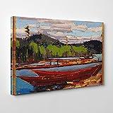 BIG Box Art Tom Thomson Bateaux Canvas Print, Multi-Colour, 24 x 16-inch