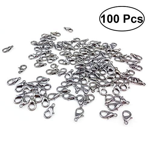Karabiner Verschlüsse DIY Schmuckherstellung gurthalteband 100(weiß) (Karabiner Verschluss)