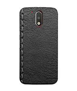 PrintVisa Designer Back Case Cover for Moto G4 Plus (stiched thread diary page look)