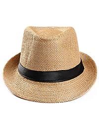 Subfamily Polyerter Cinturón Visera Sombrero Sombrero Exterior Sombrero  Unisex Casual Sombrero Panama Sombrero Paja Gorros para e81d4ce801a