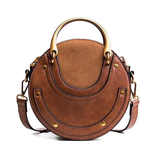 Anna-Parker Circular PU Leder Damen Taschen Kleine runde Tasche Damen Umhängetasche (Anna Tasche)