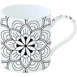 Colorea tu taza de Mandala Porcelana Blanco 19x 18x 10cm