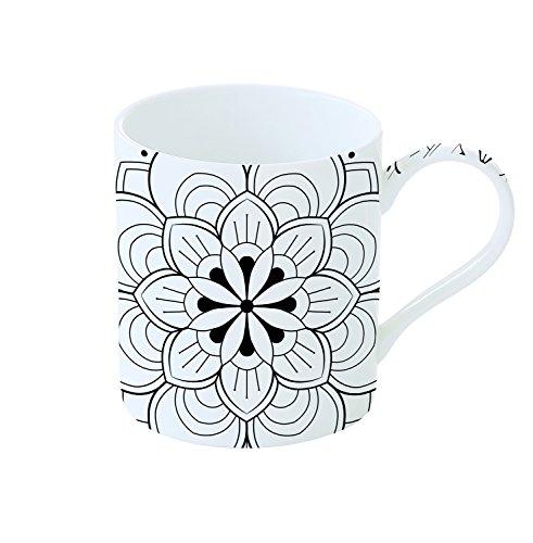 Easy Life 198MALA Coffret Mug à Peindre, Porcelaine, Blanc, 35 cm