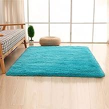 Alfombra azul - Alfombras dormitorio amazon ...