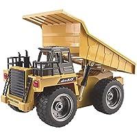 deAO RC Camión de Construccuón Teledirigido con 2.4GHz Sync System para Modo Multi Jugador (Camión Volquete)