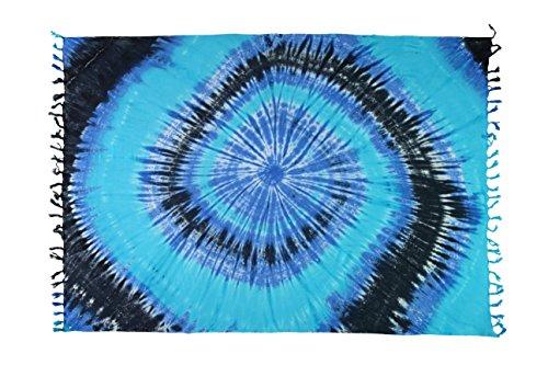 Ca 50 Modelle Sarong Pareo Wickelrock Standtücher Schals Handtuch aus der Serie Crazy Islands viele Farben Curacao - Meer Blau