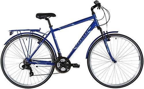Skibrille FreeSpirit Trekker Plus 21SP Federung vorne Herren Hybrid Bike 53 cm (21 Zoll) schwarz / blau Cross Trekker
