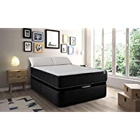 MAXCOLCHON Pack Colchon Confort-Visco + Almohada + Canape Abatible 140x190