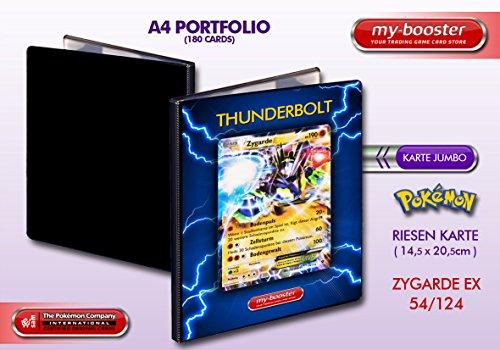 my-booster Portfolio Pokemon Zygarde EX 54/124 190KP XY10 - 180 Karten einzuordnen - Format A4 Album Binder (Album Ex Karten Pokemon)